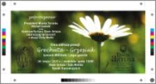 Dwa oblicza poezji : Grechuta Grzesiuk : 24 maja 2015 r. : zaproszenie