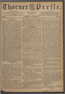 Thorner Presse 1887, Jg. V, Nro. 35 + Beilagenwerbung