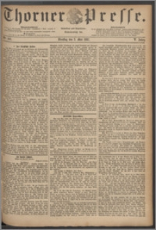 Thorner Presse 1887, Jg. V, Nro. 102