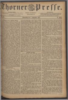 Thorner Presse 1887, Jg. V, Nro. 203