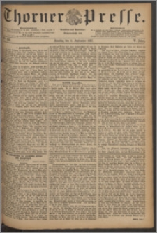 Thorner Presse 1887, Jg. V, Nro. 206