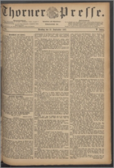 Thorner Presse 1887, Jg. V, Nro. 213