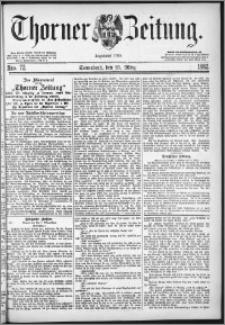 Thorner Zeitung 1882, Nro. 72