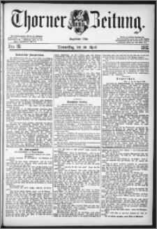Thorner Zeitung 1882, Nro. 92