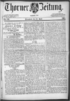Thorner Zeitung 1882, Nro. 100