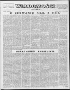 Wiadomości, R. 7 nr 45 (345), 1952