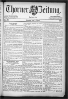 Thorner Zeitung 1883, Nro. 81 + Beilage