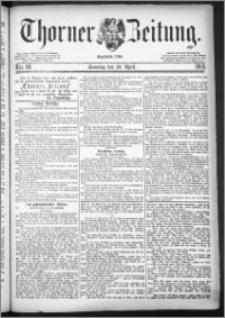 Thorner Zeitung 1883, Nro. 98 + Beilage