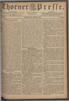 Thorner Presse 1887, Jg. V, Nro. 222