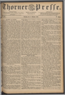 Thorner Presse 1887, Jg. V, Nro. 231