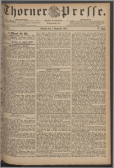 Thorner Presse 1887, Jg. V, Nro. 255