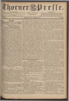 Thorner Presse 1887, Jg. V, Nro. 278 + Beilage, Extrablatt