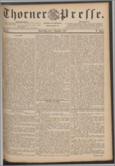 Thorner Presse 1887, Jg. V, Nro. 281