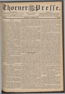 Thorner Presse 1887, Jg. V, Nro. 282