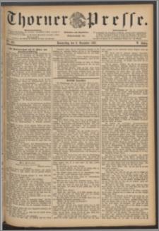 Thorner Presse 1887, Jg. V, Nro. 287