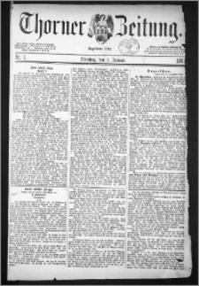 Thorner Zeitung 1884, Nro. 1