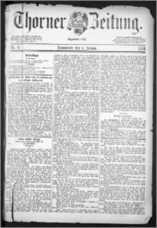 Thorner Zeitung 1884, Nro. 4 + Extra-Beilage