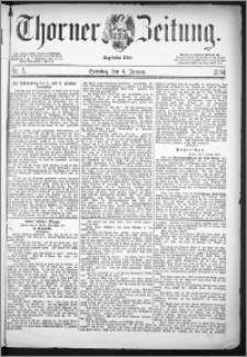 Thorner Zeitung 1884, Nro. 5