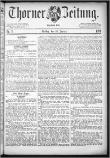 Thorner Zeitung 1884, Nro. 15