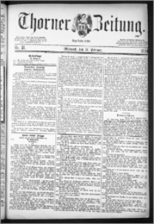 Thorner Zeitung 1884, Nro. 37