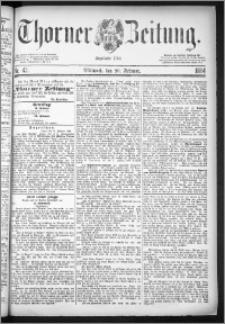 Thorner Zeitung 1884, Nro. 43