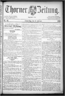 Thorner Zeitung 1884, Nro. 44 + Beilagenwerbung