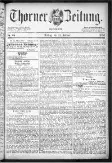 Thorner Zeitung 1884, Nro. 45