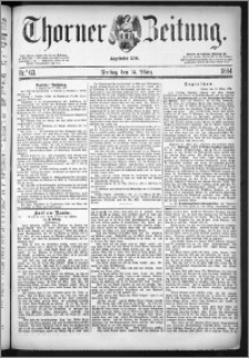 Thorner Zeitung 1884, Nro. 63