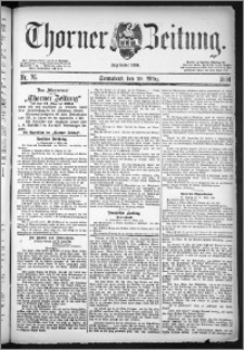 Thorner Zeitung 1884, Nro. 76
