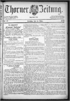 Thorner Zeitung 1884, Nro. 77 + Beilage