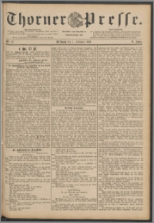 Thorner Presse 1888, Jg. VI, Nro. 27