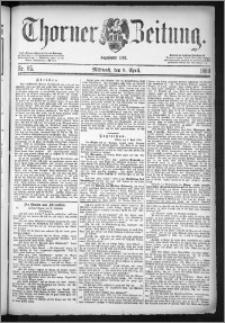 Thorner Zeitung 1884, Nro. 85