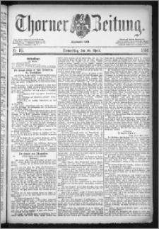Thorner Zeitung 1884, Nro. 86