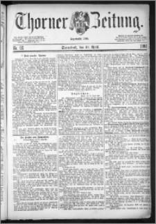 Thorner Zeitung 1884, Nro. 92