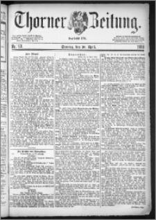 Thorner Zeitung 1884, Nro. 93 + Beilagenwerbung