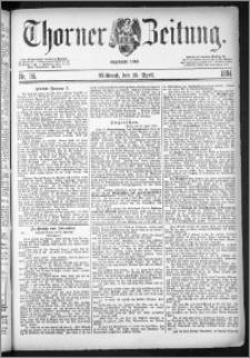 Thorner Zeitung 1884, Nro. 95