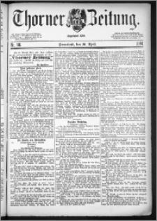 Thorner Zeitung 1884, Nro. 98