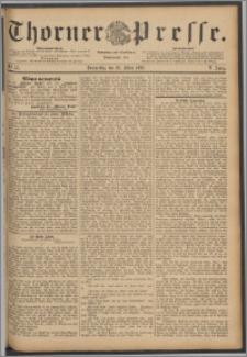Thorner Presse 1888, Jg. VI, Nro. 75 + Extrablatt, Beilagenwerbung