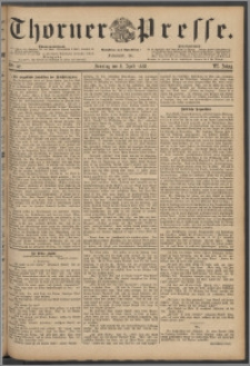 Thorner Presse 1888, Jg. VI, Nro. 82 + Beilage