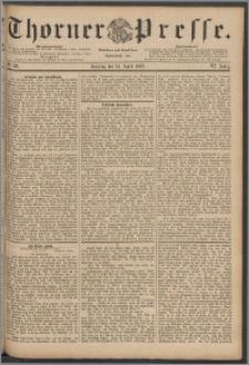 Thorner Presse 1888, Jg. VI, Nro. 88 + Beilage