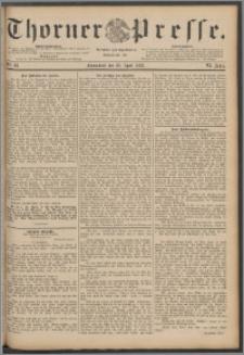 Thorner Presse 1888, Jg. VI, Nro. 98 + Beilagenwerbung