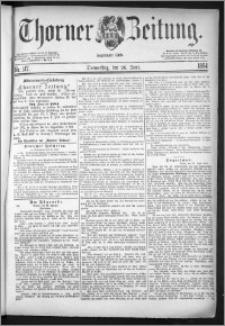 Thorner Zeitung 1884, Nro. 147