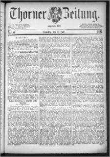 Thorner Zeitung 1884, Nro. 156 + Beilage