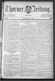 Thorner Zeitung 1884, Nro. 163