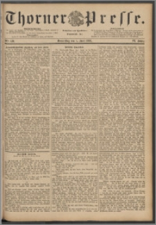 Thorner Presse 1888, Jg. VI, Nro. 130 + Beilagenwerbung