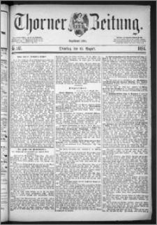 Thorner Zeitung 1884, Nro. 187