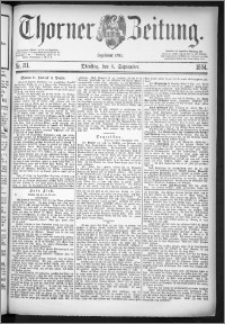 Thorner Zeitung 1884, Nro. 211
