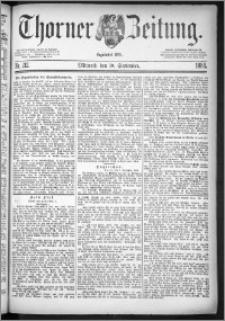 Thorner Zeitung 1884, Nro. 212