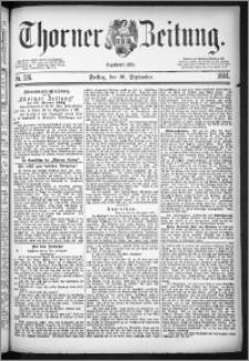 Thorner Zeitung 1884, Nro. 226