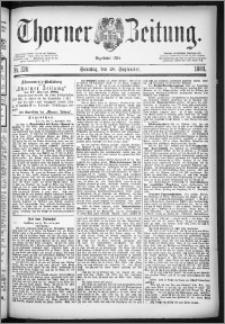 Thorner Zeitung 1884, Nro. 228 + Beilage
